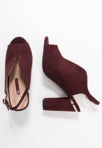 Dorothy Perkins - SKYLAR - High heeled sandals - burgundy - 3