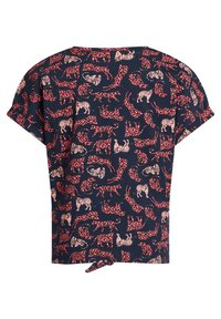 WE Fashion - T-shirt print - dark blue, pink - 4