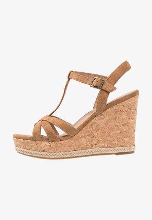 MELISSA - High heeled sandals - chestnut