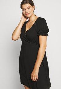 Cotton On Curve - WRAP MIDI DRESS - Day dress - black - 4