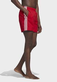 adidas Originals - ADICOLOR CLASSICS 3-STRIPES SWIM SHORTS - Swimming shorts - red - 2