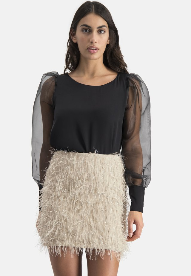 NIOVE - Mini skirt - beige
