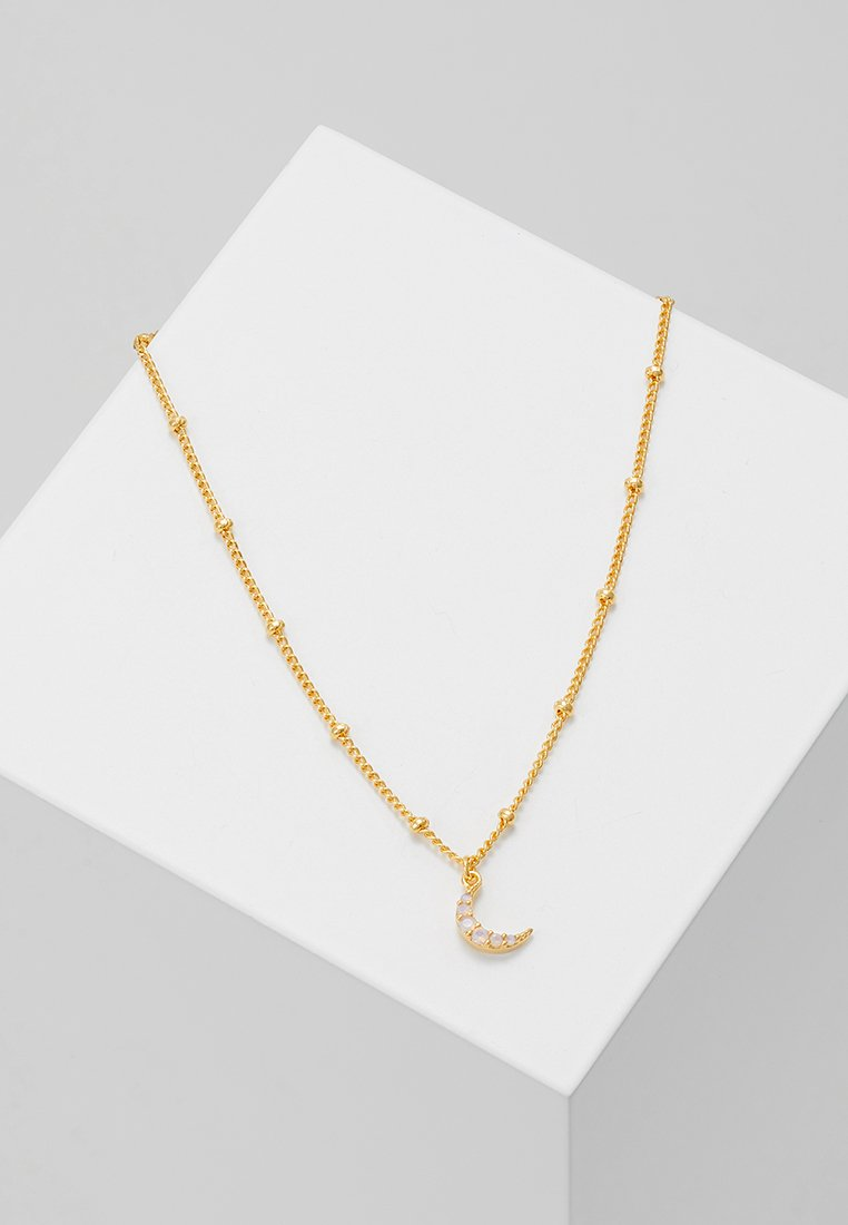 Astrid & Miyu - MYSTIC MOON NECKLACE - Necklace - gold-coloured