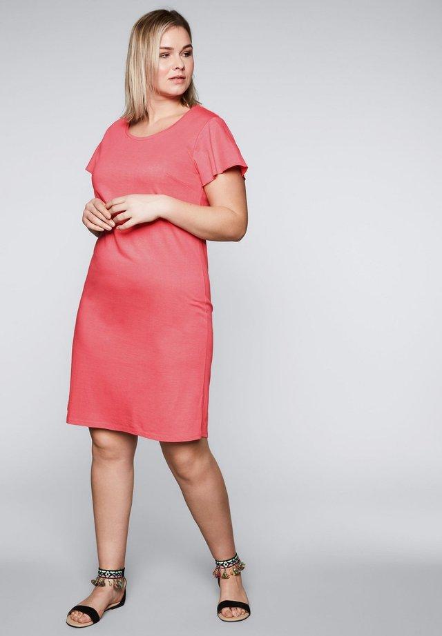 Jersey dress - korallrot