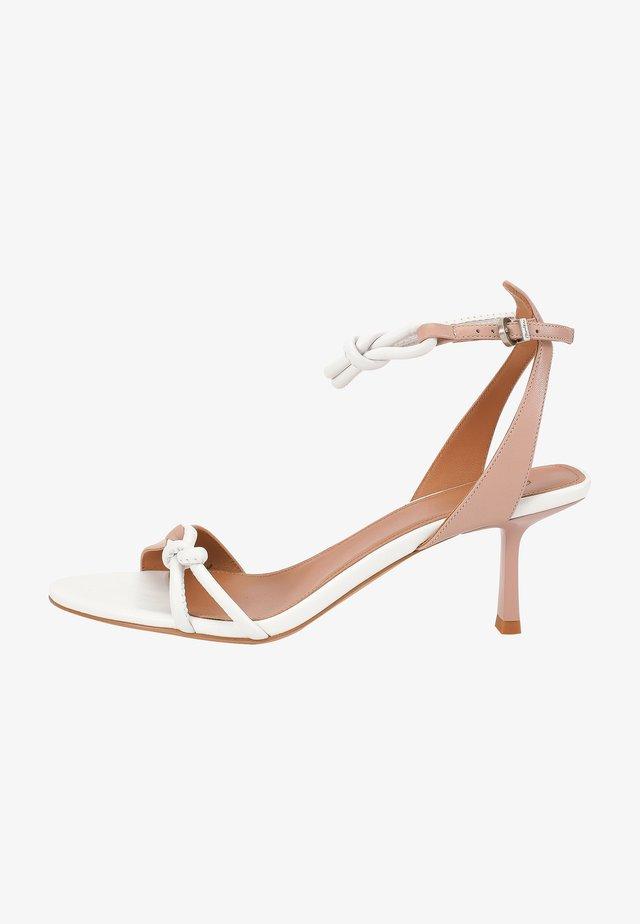 Sandals - beige/white