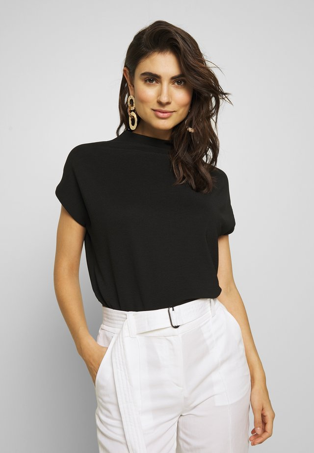 KITTUA TEXTURE - Basic T-shirt - black