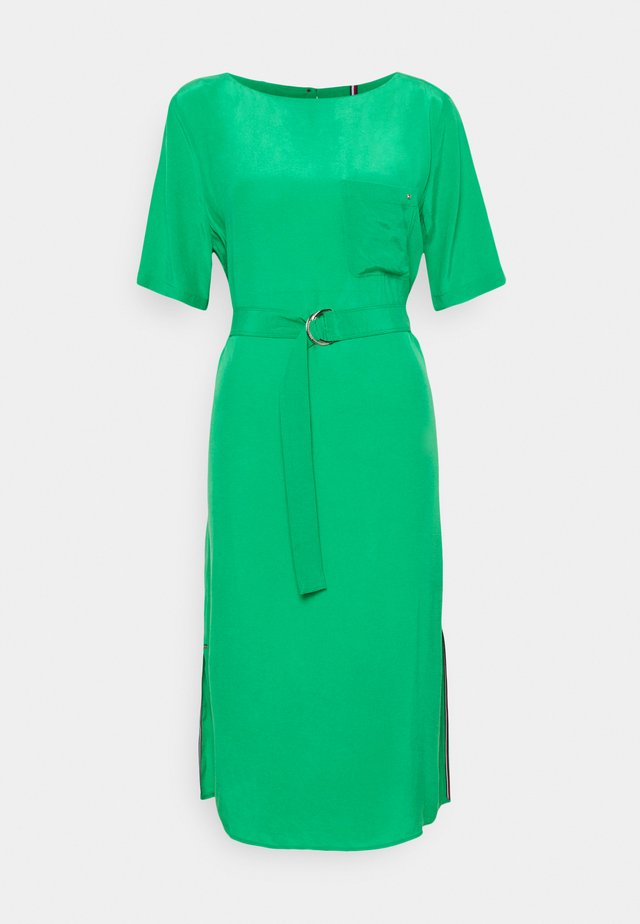 CUPRO KNEE DRESS - Denní šaty - primary green