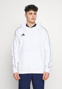 adidas Performance - CORE ELEVEN FOOTBALL HODDIE SWEAT - Felpa con cappuccio - white - 0