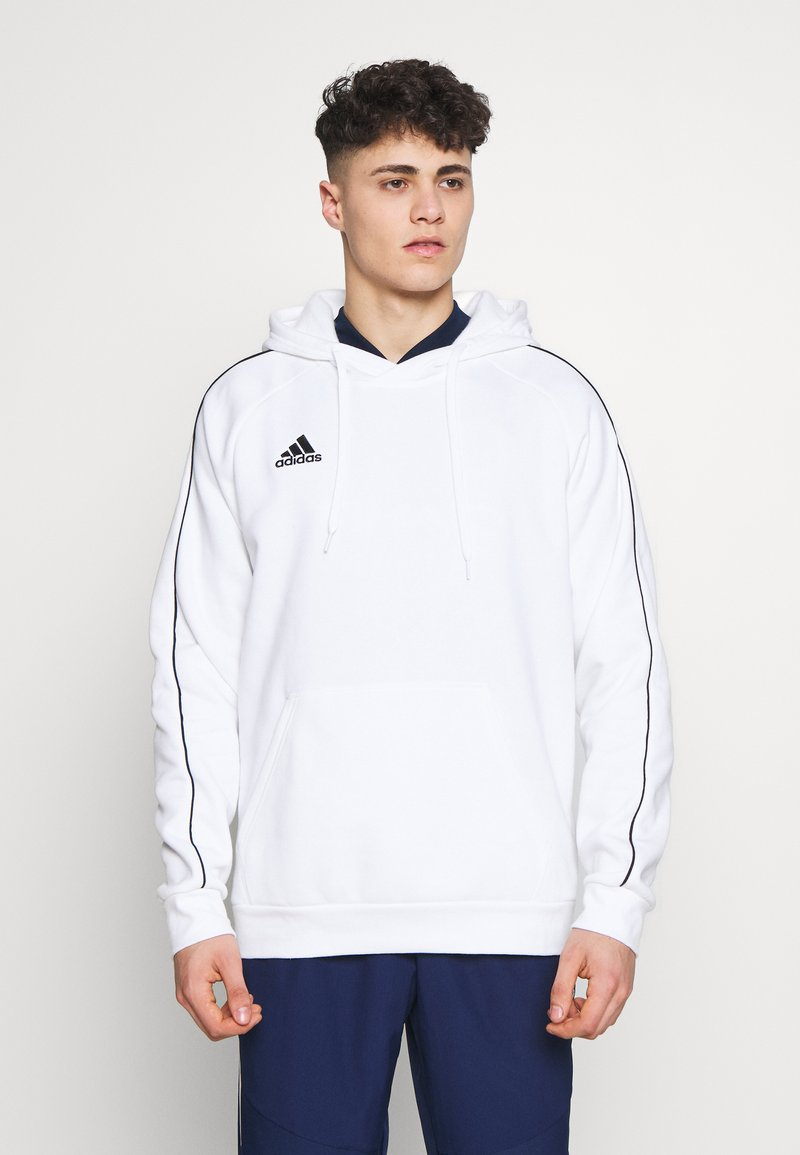 adidas Performance - CORE ELEVEN FOOTBALL HODDIE SWEAT - Felpa con cappuccio - white