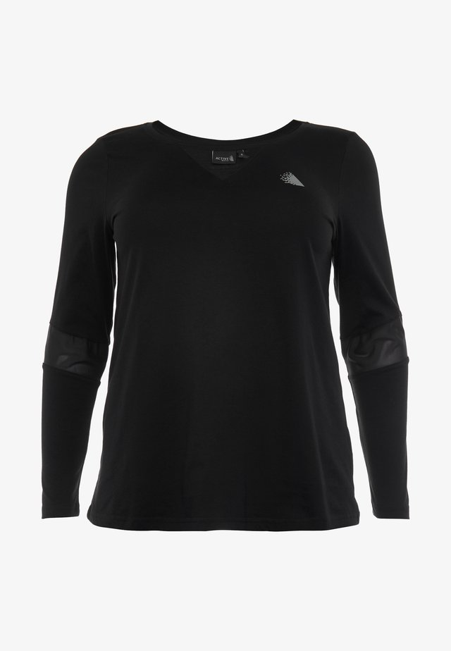 ASUSY - Sports shirt - black