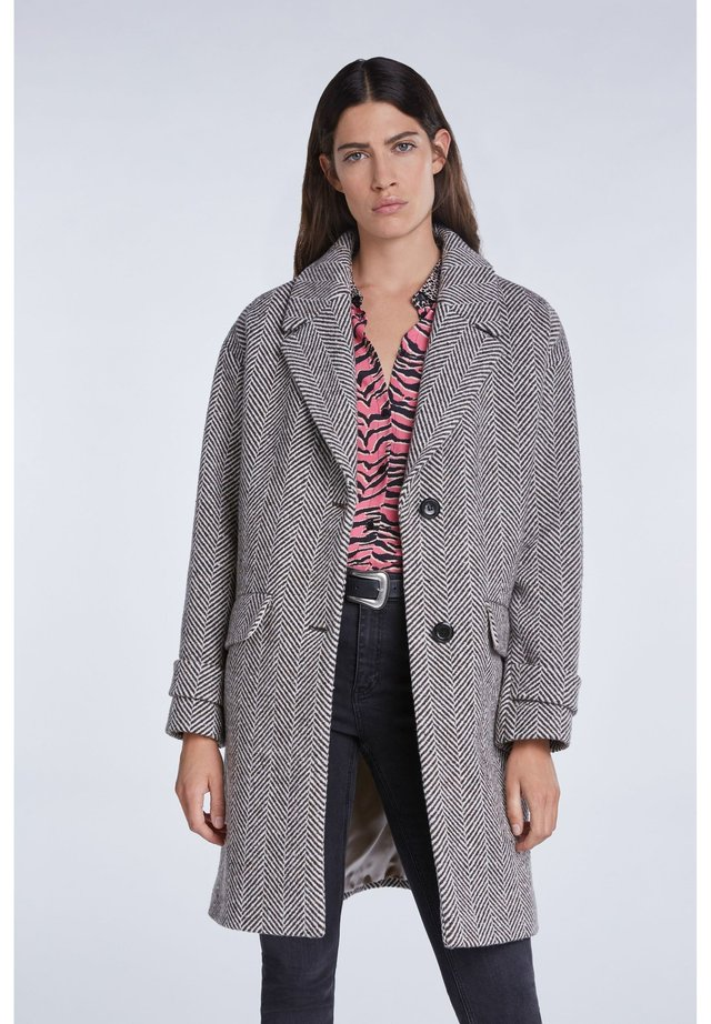 Classic coat - offwhite brown