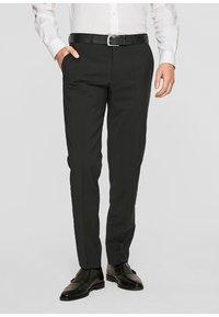 s.Oliver BLACK LABEL - CESANO - Suit trousers - black - 0