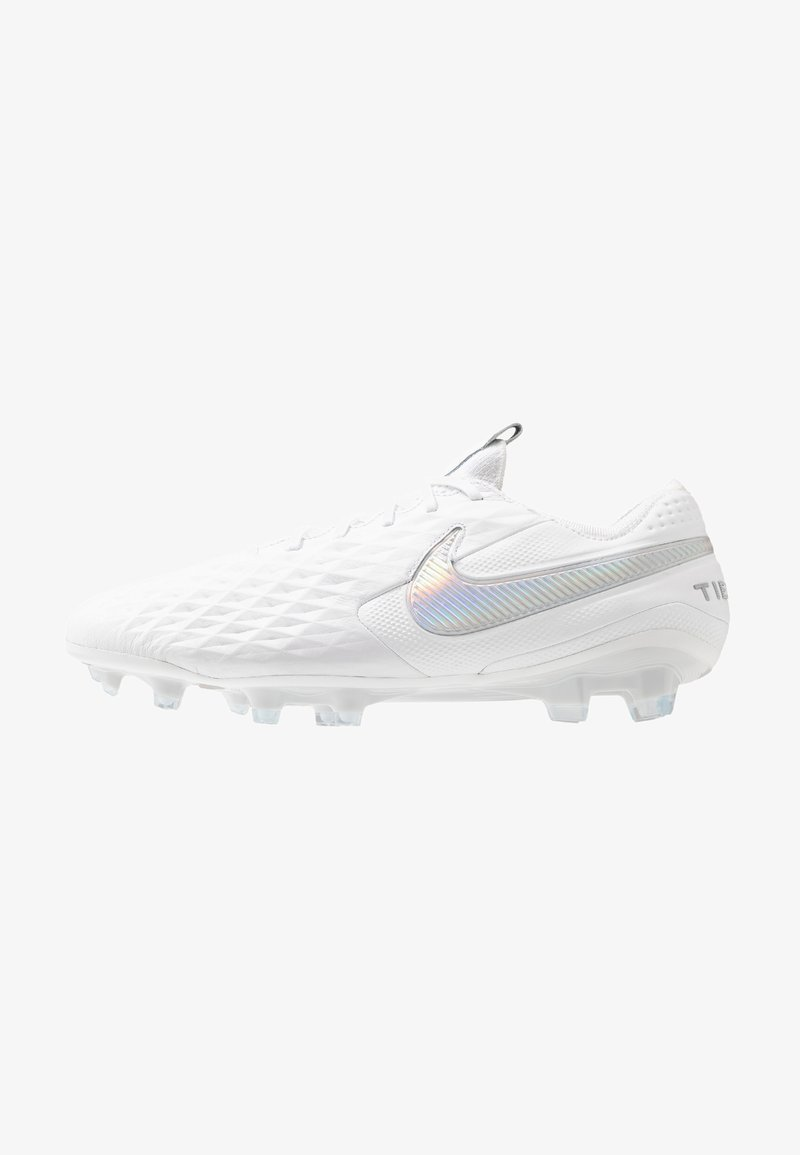 Nike Performance - TIEMPO LEGEND 8 ELITE FG - Moulded stud football boots - white/pure platinum/wolf grey
