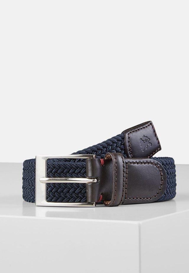 HARVEY - Braided belt - navy