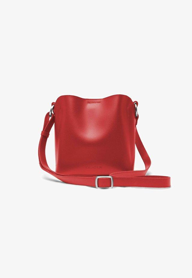 Across body bag - crimson red