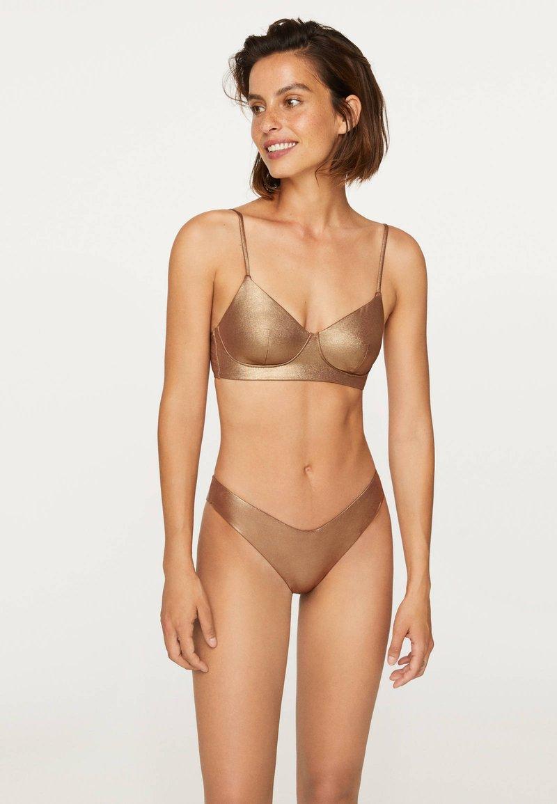 OYSHO - Bikinibroekje - gold