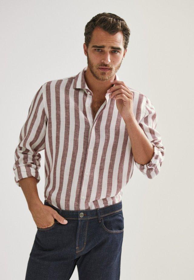 Overhemd - bordeaux