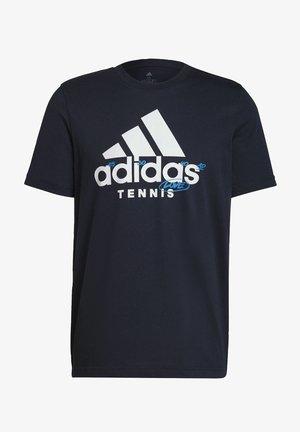 M SS CAT TEE - T-shirt z nadrukiem - blue