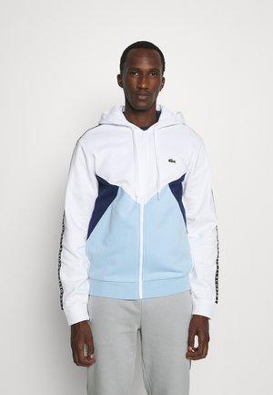 Sweater met rits - blanc/bleu