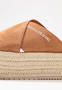 Calvin Klein Jeans - FERNANDA - Heeled mules - light brown - 2