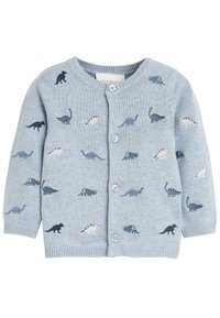 Next - BLUE DINOSAUR EMBROIDERED CARDIGAN (0MTHS-3YRS) - Vest - blue - 0