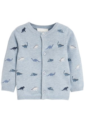 BLUE DINOSAUR EMBROIDERED CARDIGAN (0MTHS-3YRS) - Vest - blue