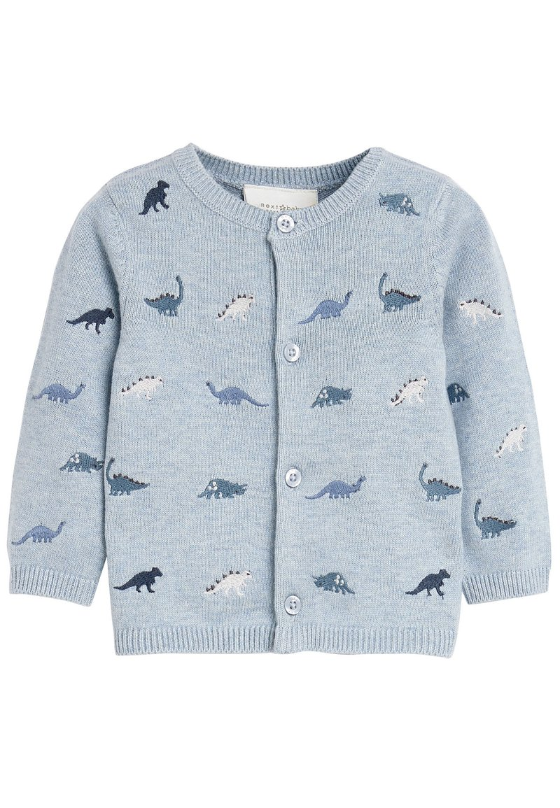 Next - BLUE DINOSAUR EMBROIDERED CARDIGAN (0MTHS-3YRS) - Vest - blue