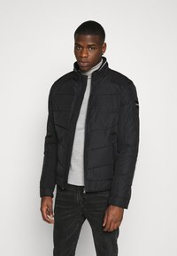 Calvin Klein - QUILTED JACKET - Light jacket - black - 0
