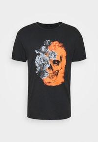 Jack & Jones PREMIUM - JPRBLAMERGE TEE CREW NECK - Print T-shirt - black - 4