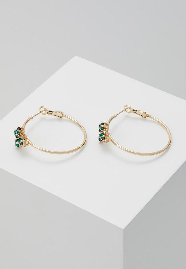 Ohrringe - green/fuchsia