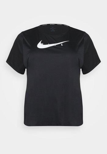 RUN PLUS - T-shirts med print - black/silver
