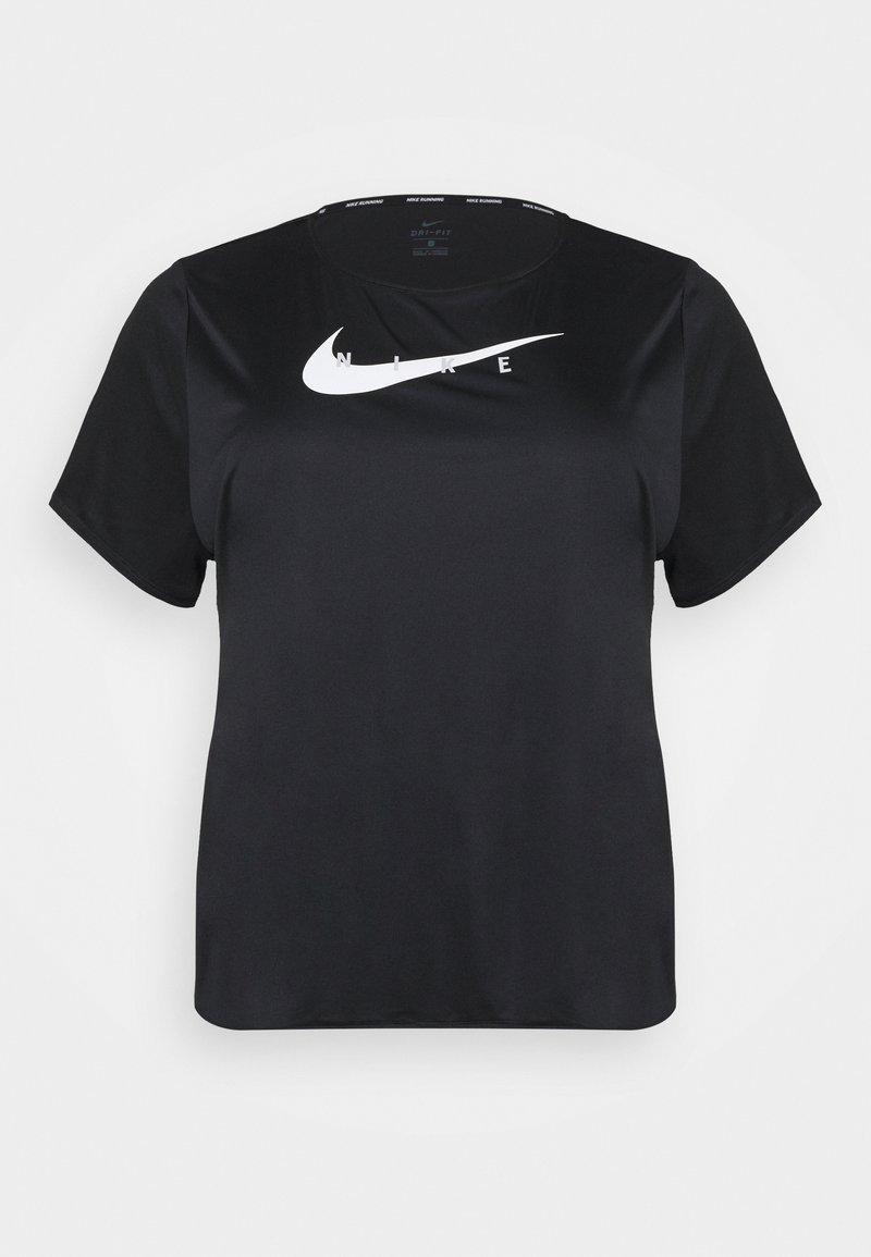 Nike Performance - RUN PLUS - T-shirt med print - black/silver