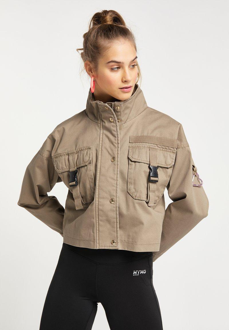 myMo - CROPPED  - Light jacket - schlamm