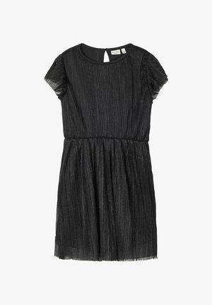 NIT PLISSEE GLITZER - Cocktail dress / Party dress - black