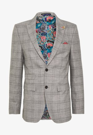 JASPE CHECK JACKET - Marynarka garniturowa - mid grey