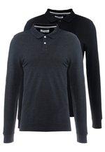 2 PACK - Polo - mottled grey/black