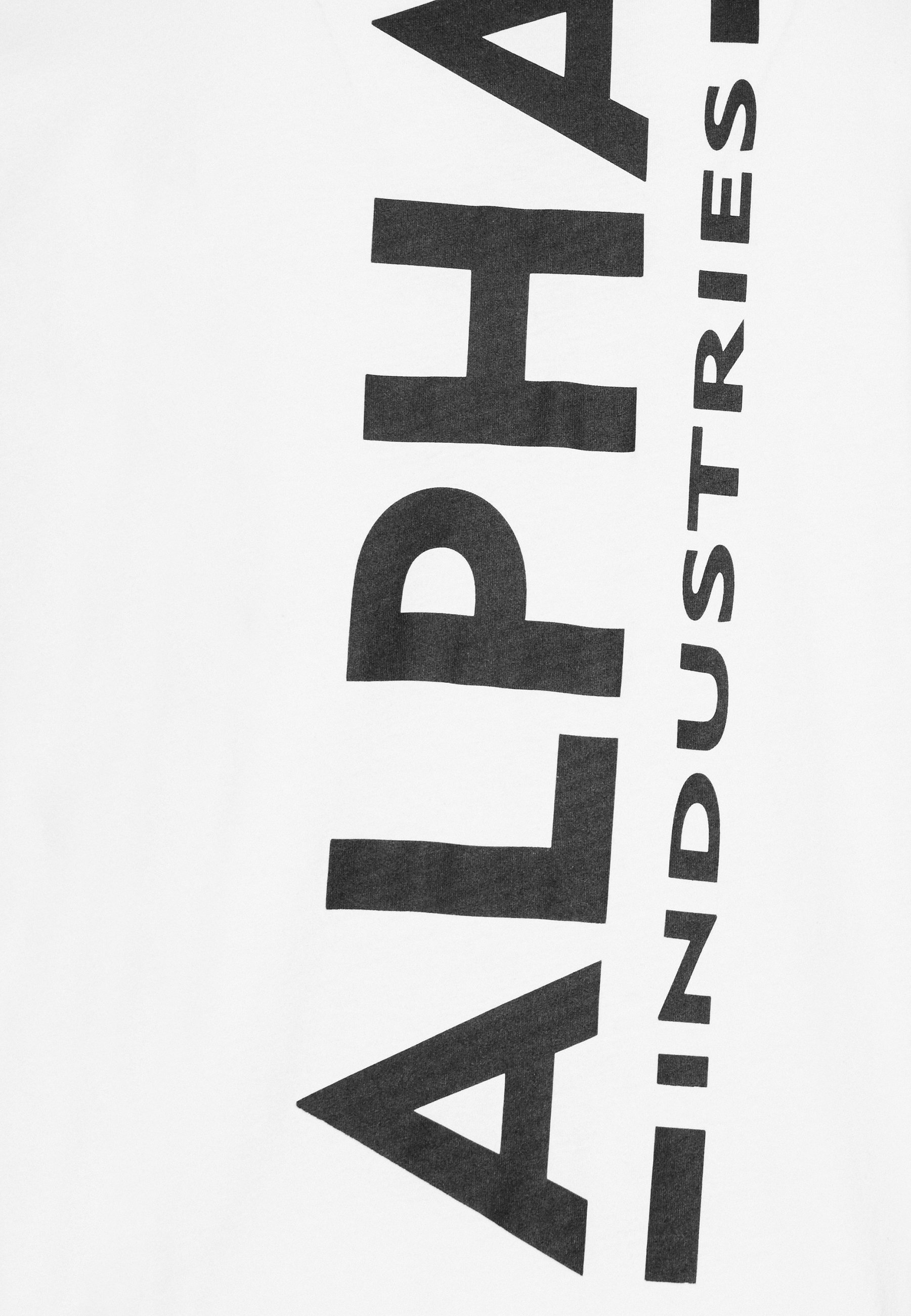 Alpha Industries BACK PRINT - Print T-shirt - white j1bhD