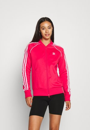 TRACKTOP - Trainingsjacke - power pink/white