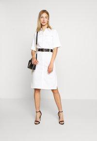4th & Reckless - LORI BELTED DRESS - Shirt dress - cream - 1