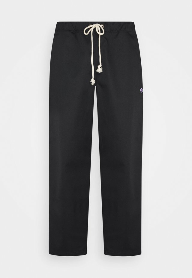 STRAIGHT HEM PANTS - Pantaloni - black