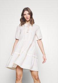 Vero Moda - VMIBIA SHORT DRESS - Day dress - birch - 0