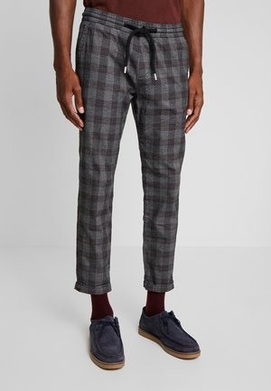 CROPPED CHECKED - Trousers - grey grindle