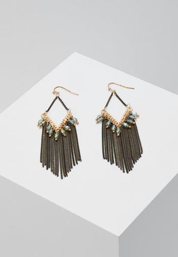 SUSN - Earrings - gold-coloured/schwarz