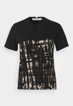 TIE DYE CLASSIC TEE - Print T-shirt - black perl