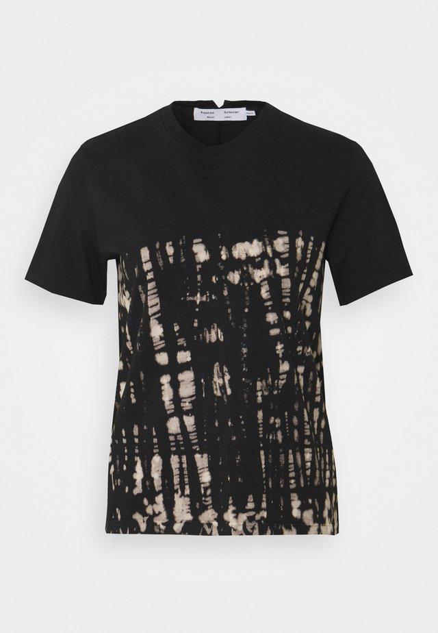 TIE DYE CLASSIC TEE - T-shirt con stampa - black perl