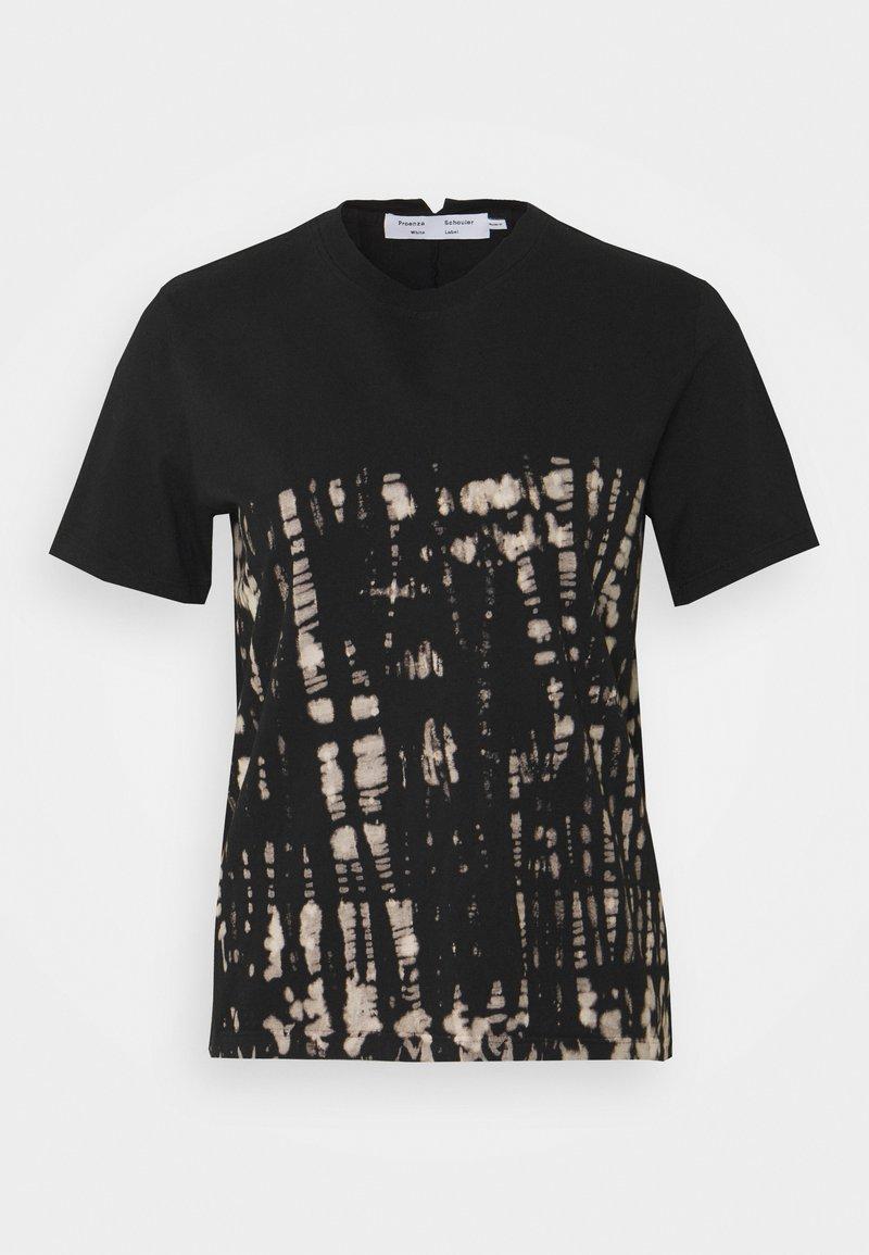 Proenza Schouler White Label - TIE DYE CLASSIC TEE - T-shirt con stampa - black perl