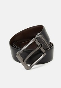 Zign - LEATHER - Riem - black/brown - 4