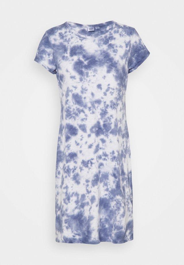 TEE DRESS - Jerseyjurk - blue tie dye