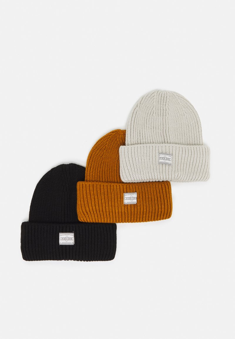 Pier One - 3 PACK UNISEX - Pipo - black/off white/brown