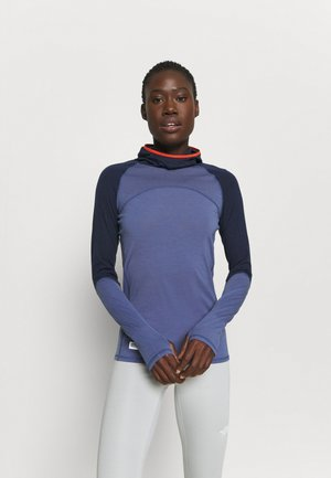 BELLA TECH FLEX HOOD - Undershirt - blue